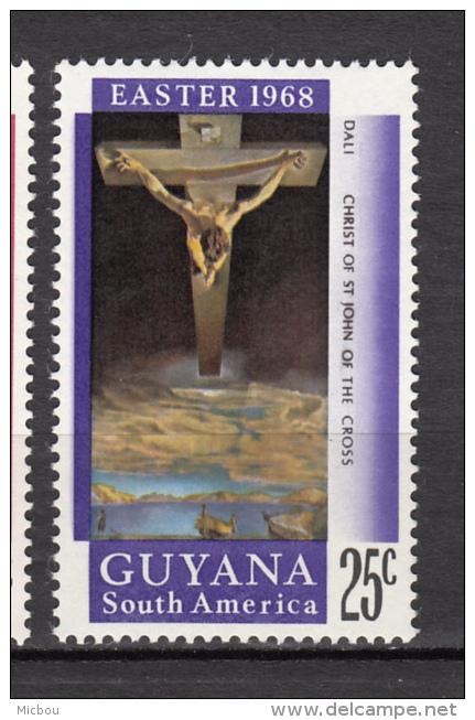 Guyana, Christ De Saint Jean De La Croix, Salvador Dali, Pâques, Easter, Bateau, Boat, Christ Of St John Of The Cross - Religie