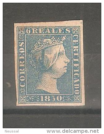 Sello Nº 4 España Falso. - 1850-68 Kingdom: Isabella II