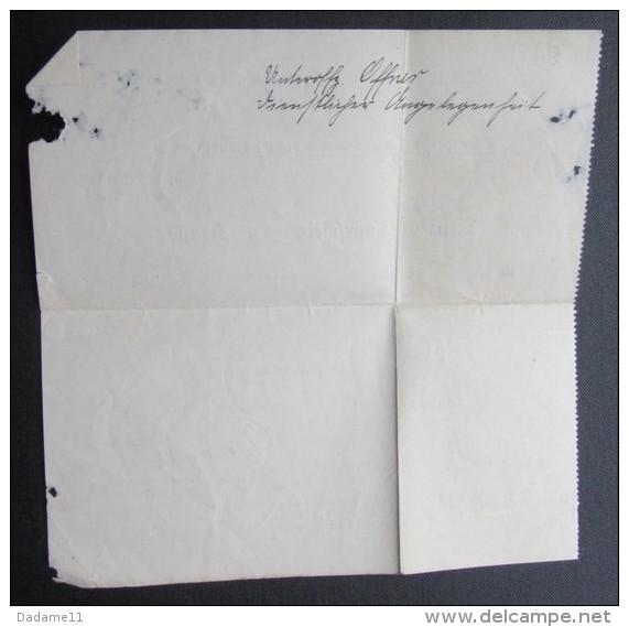 Militär Fahrschein  1917 - Documents