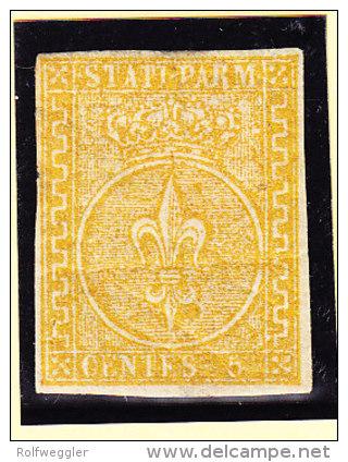 Parma 1853 Mi.#6 * Mit Falz 5 Cent - Parme