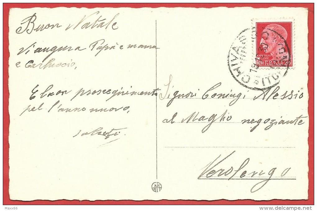 CARTOLINA VG ITALIA - BUON NATALE - Natività - Zampognari - Bue E Asinello - 9 X 14 - ANNULLO 1930 MILANO - Other