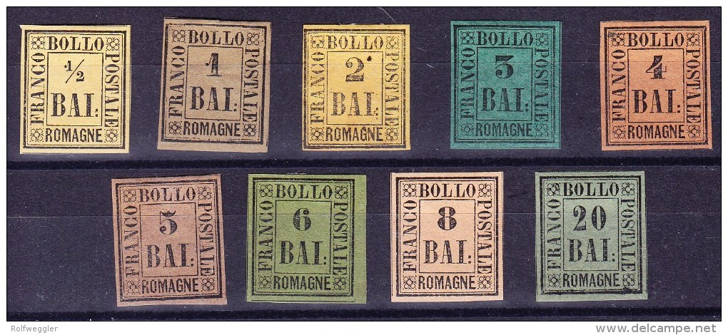 Romagna Lot Auf Steckkarte 1.Serie Mi.# 1 Bis 9 * Mit Falz - Romagne