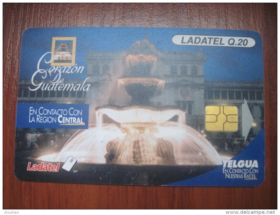 Guatemala. TELGUA./Ladatel. Corazon De Guatemala. Fountain. - Guatemala