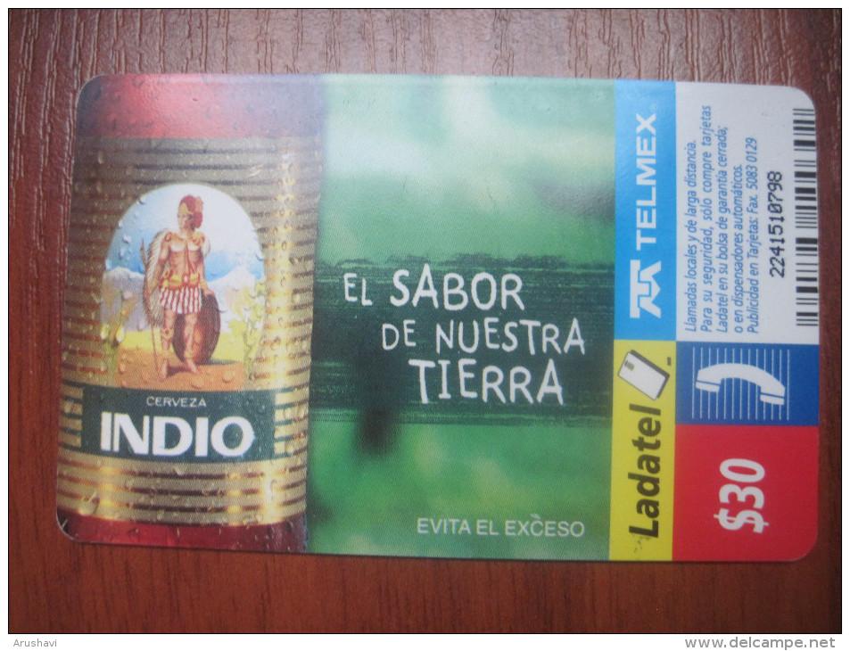 Mexico. TELMEX/ Ladatel. Indio Beer. El Sabor De Nuestra Tierra. - Mexico