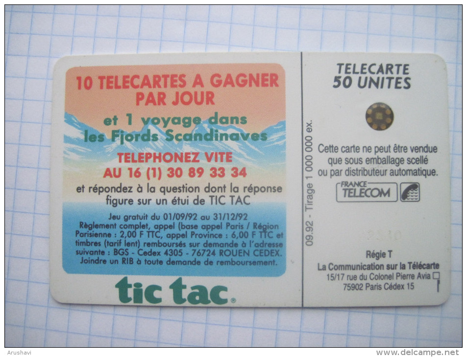 France. France Telecom. Advertising . Tic Tac. 09/1992. - Advertising