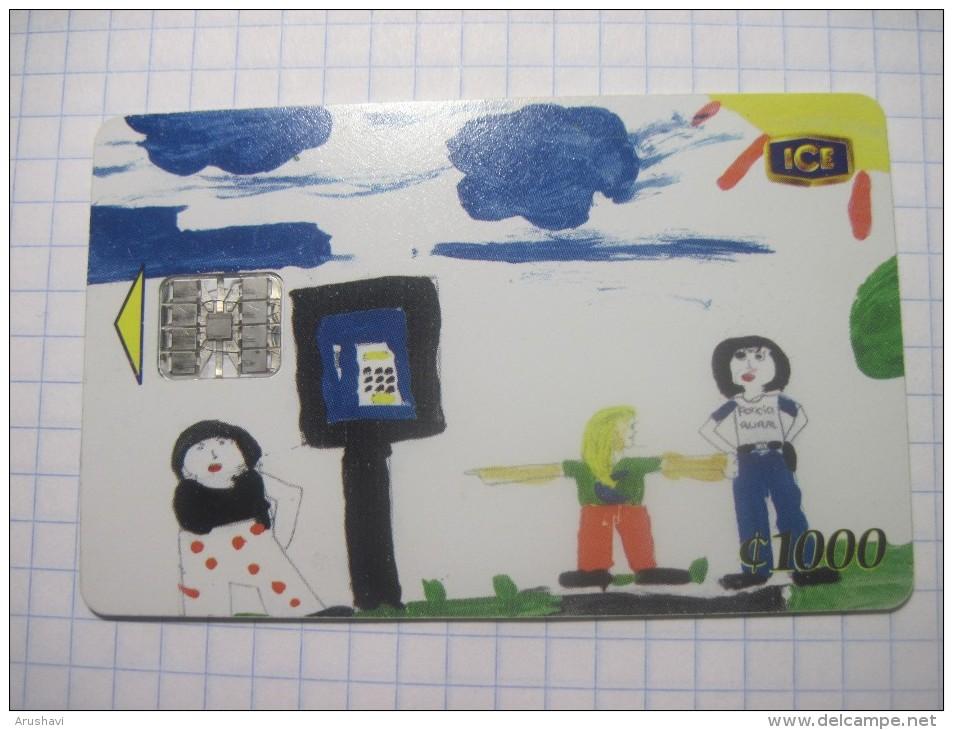Costa Rica . ICETEL. Children`s Drawing. 1000 Colones. - Costa Rica