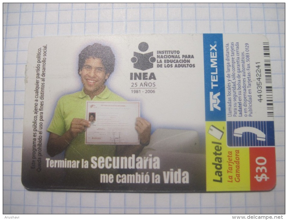 Mexico. TELMEX/ Ladatel. Instituto Nacional Para La Educacion De Los Adultos. - Mexico