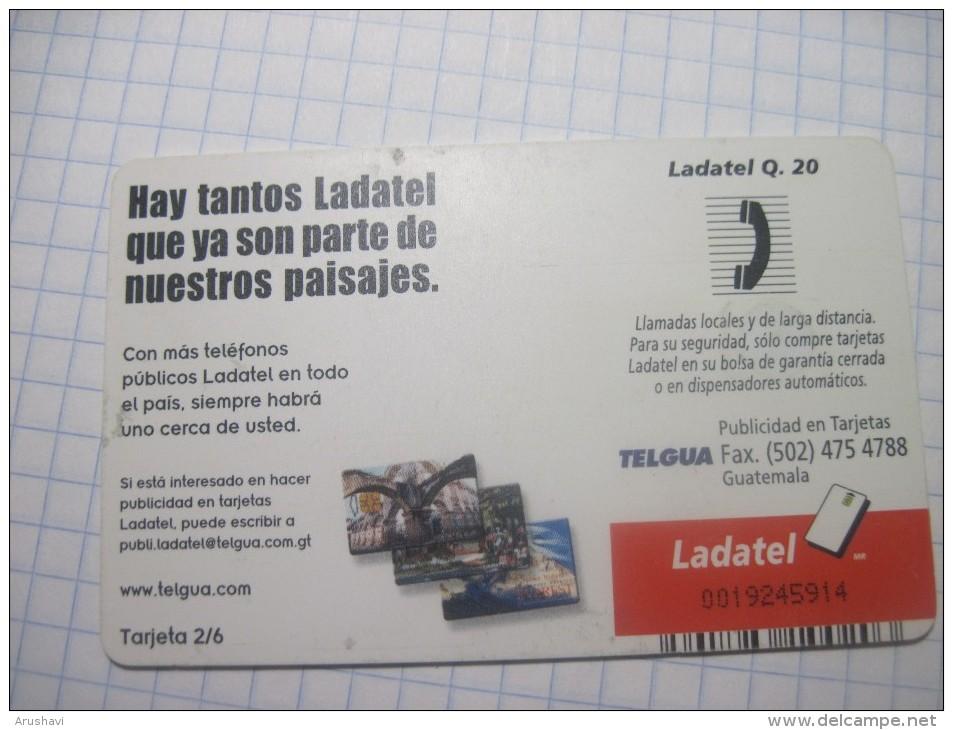 Guatemala. TELGUA./Ladatel. People Talking Over The Phone Collage. - Guatemala