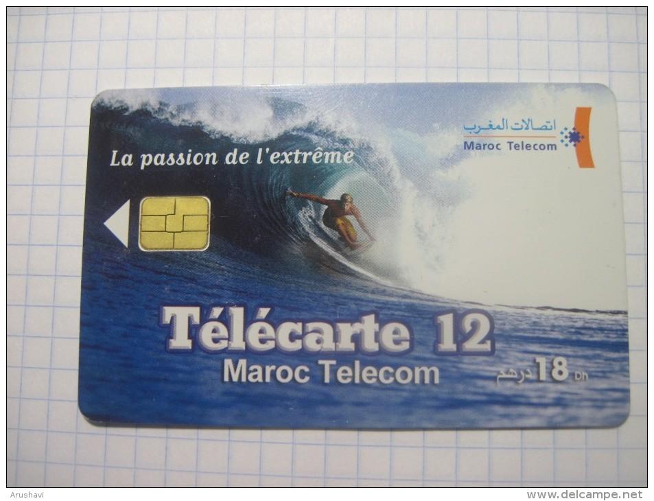 Morocco. Maroc Telecom. 12 Units. Windserfing. Chip Phonecard. - Sport