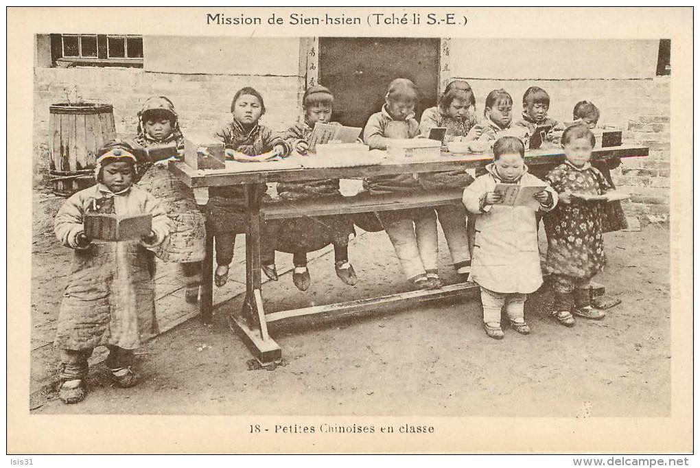 Chine - Mission De Sien-hsien ( Tché Li S.-E. ) - Petites Chinoises En Classe - Bon état - Chine