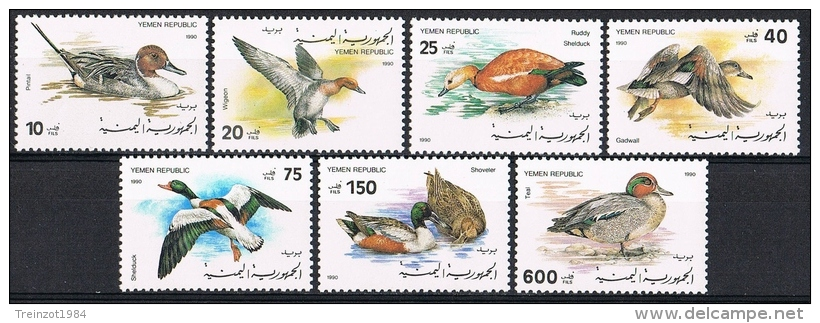 K690 FAUNA VOGELS BIRDS OISEAUX VÖGEL AVES EEND DUCK ENTE YEMEN REPUBLIC 1990 PF/MNH - Oiseaux