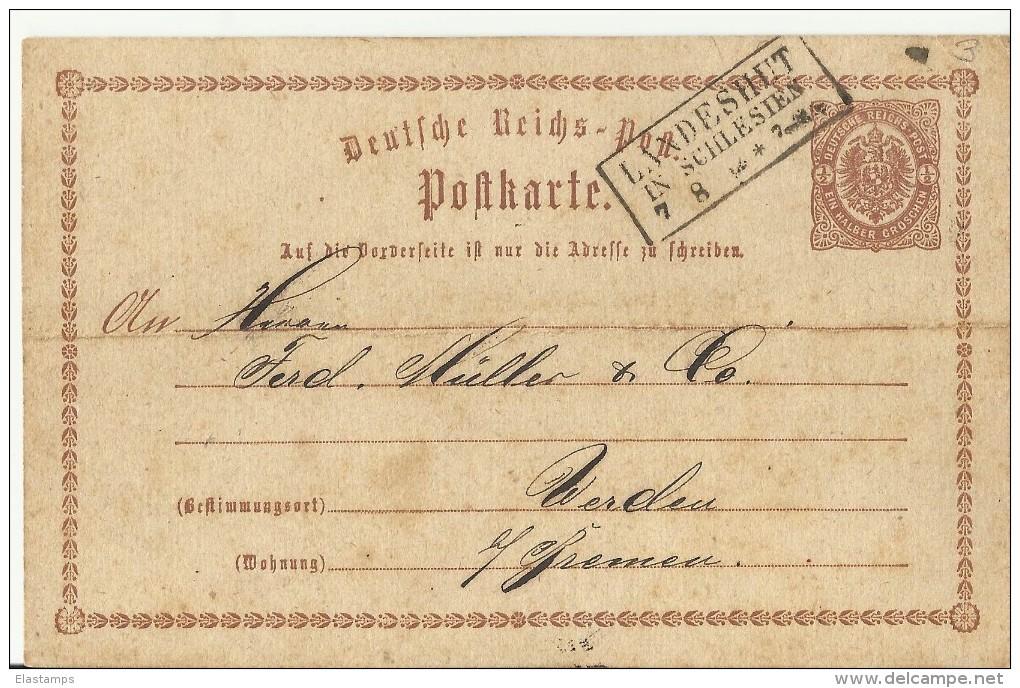 DR GS 1874 LANDESHUT IN SILESIEN LANDPOST - Deutschland