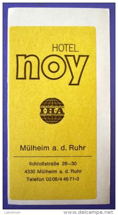 HOTEL NO NAME NOY MULHEIM GERMANY DEUTSCHLAND ALLEMAGNE STICKER LUGGAGE LABEL ETIQUETTE AUFKLEBER BERLIN - Hotel Labels