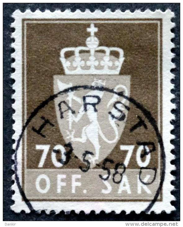 Norway  1956  Minr.79x ( O) HARSTAD 3-5-1958 ( Lot L 759) - Service