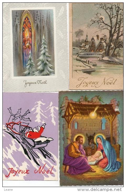 Lot 8 Cartes Noël - Joyeux Noël - Père Noël - ( Lot1) - Unclassified