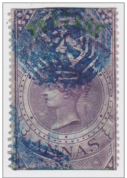India; SG. 66 - 6 As. Purple 1866 - 1858-79 Compañia Británica Y Gobierno De La Reina