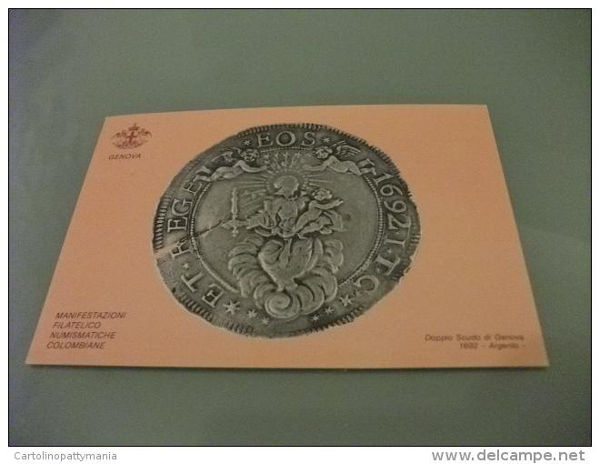 STORIA POSTALE FRANCOBOLLO ITALIA GENOVA 87 DOPPIO SCUDO DI GENOVA 1692 ARGENTO - Monete (rappresentazioni)