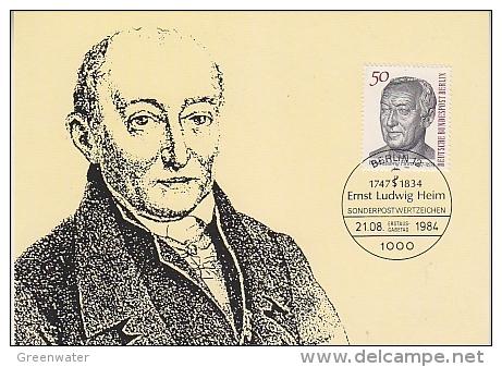 Berlin 1984 Dr. Ernst Ludwig Heim  1v Maximum Card (18484) - Maximum Kaarten