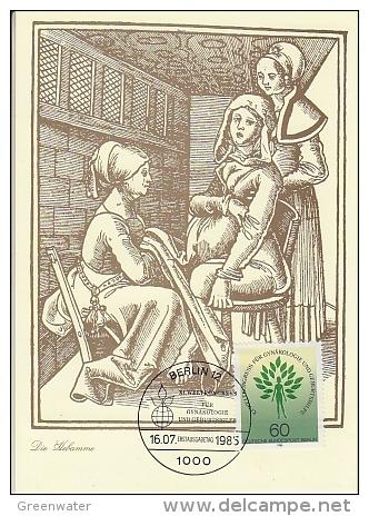 Berlin 1985 Weltkongress Gynäkologie Und Geburtshilfe  1v Maximum Card (18487) - [5] Berlijn
