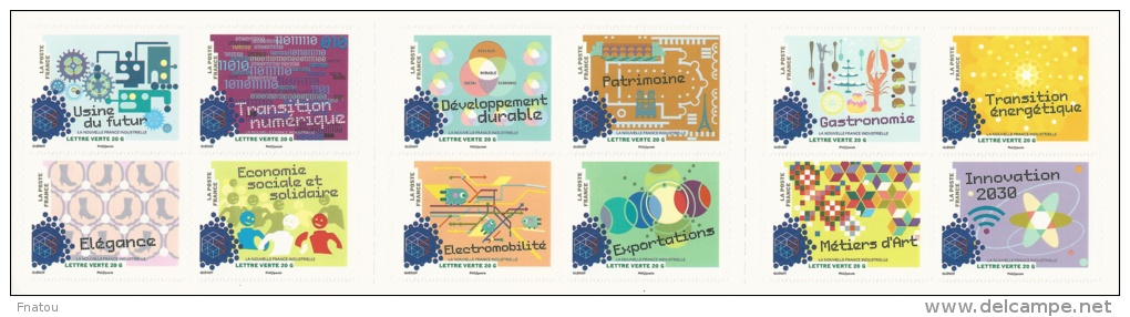 France, New Industrial France, Booklet Of 12, 2014, MNH VF Self-adhesive - Booklets