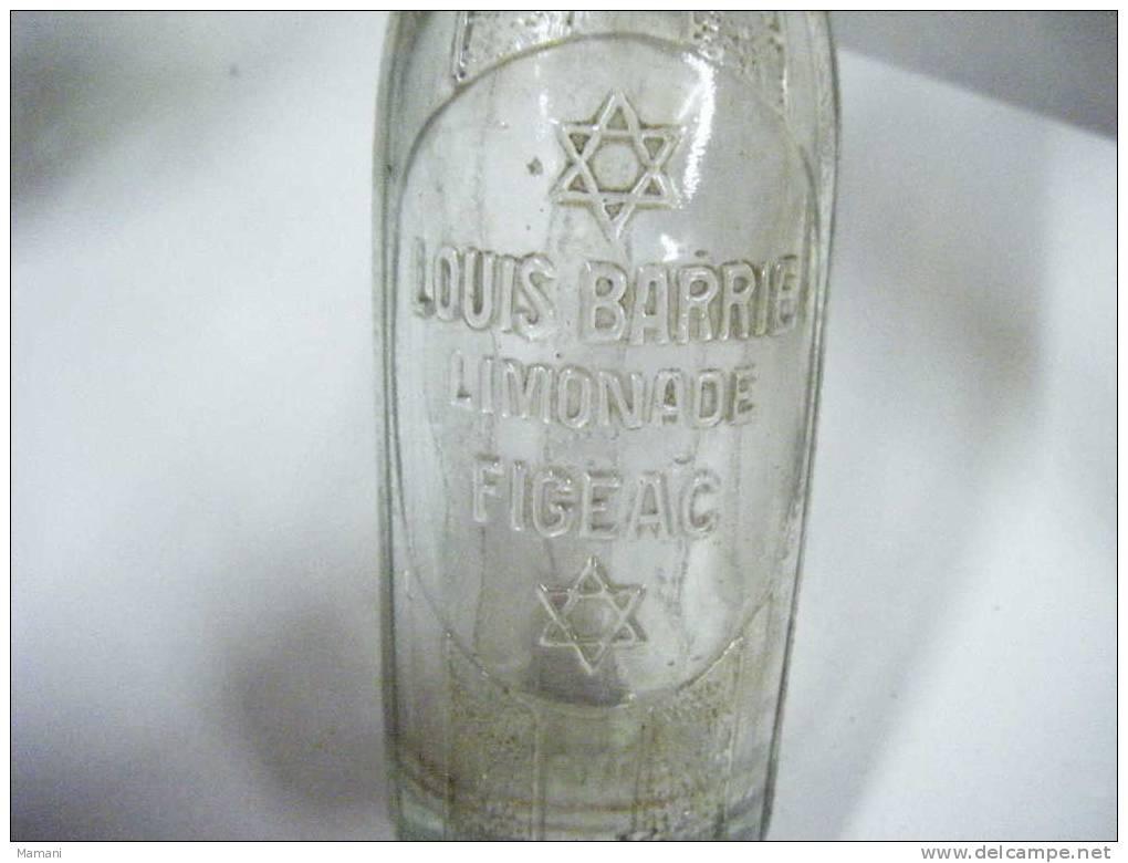 Bouteille De Limonade Louis Barrie Figeac---- Numerote Au Dessous 1410-hauteur 29cm- - Autres Collections