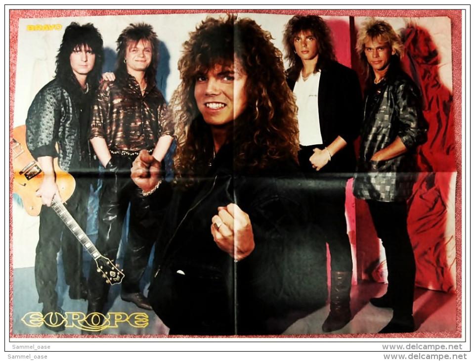 Musik Poster  -  Bonnie & Pierre  -  Rückseite :  Gruppe Europe   -  Von Bravo Ca. 1982 - Plakate & Poster