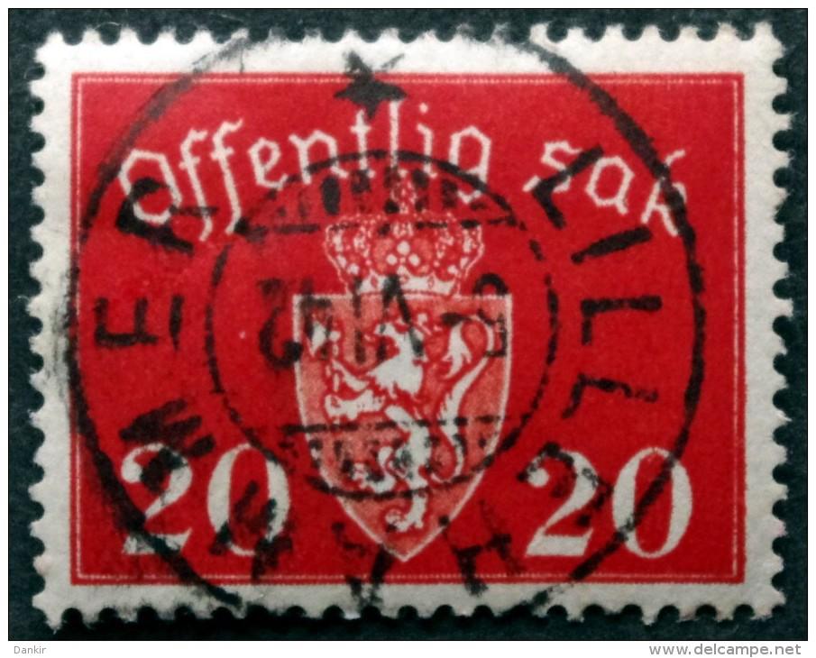 Norway  1939  Minr.37  ( O) LILLEHAMMER 5-6-1942  ( Lot L 852) - Service