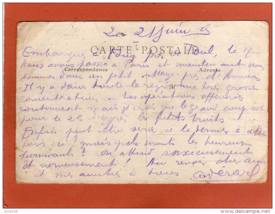 80   CORBIE LES FALAISES 1915 Correspondance Millitaire Cpa  état Moyen    Plis  Coin Haut Droit  Vendue En L´état - Corbie