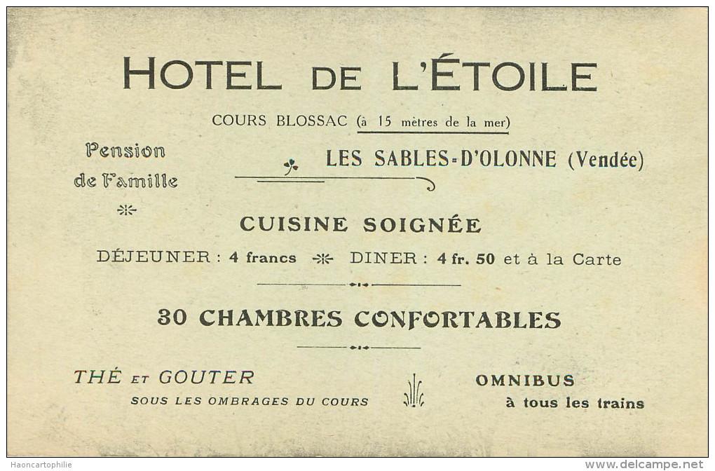 Les Sables D'olonne : Hotel De L'etoile - Sables D'Olonne