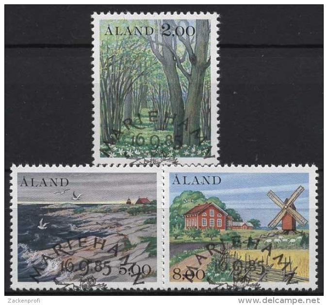 Aland 1985 Landschaften 11/13 Gestempelt - Ålandinseln