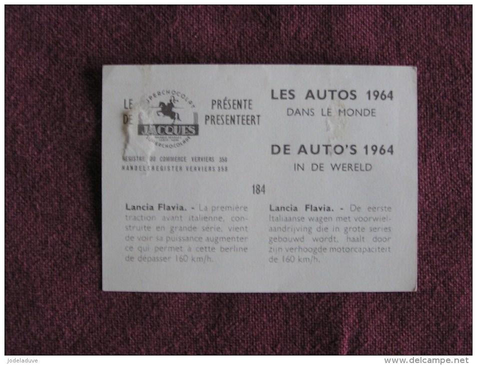 LANCIA FLAVIA  Chromo Auto 1964 Chocolat Jacques Eupen Automobile Trading Card Chromos Vignette - Jacques
