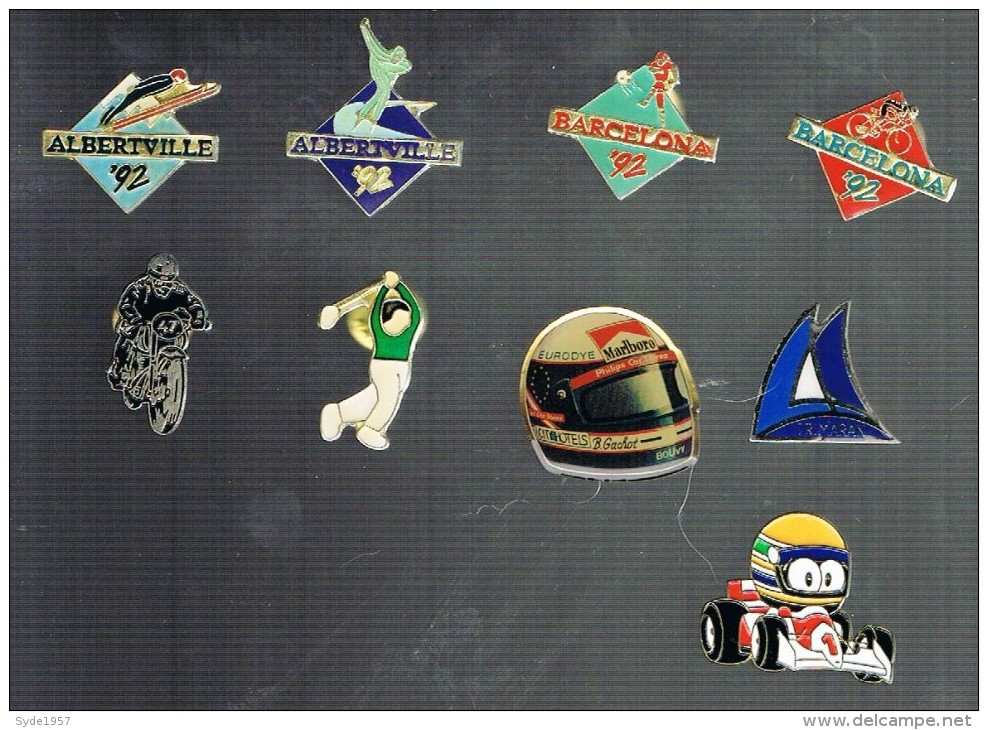 Lot De 9 Pin's Relatif Au Sport - Skateboard