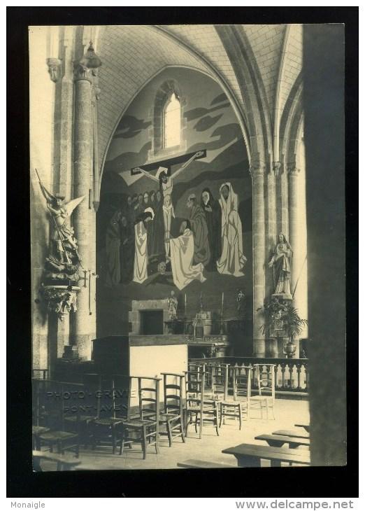 Photographie Gravie Pont Aven   Intérieur De L église - Lieux