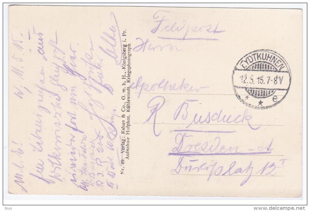 Russia Lithuania Germany 1915 Eydtkuhnen Chernyshevskoye Eitkunai Ejtkuny Eydtkau, Konigsberg Kaliningrad Kibarty - Russie