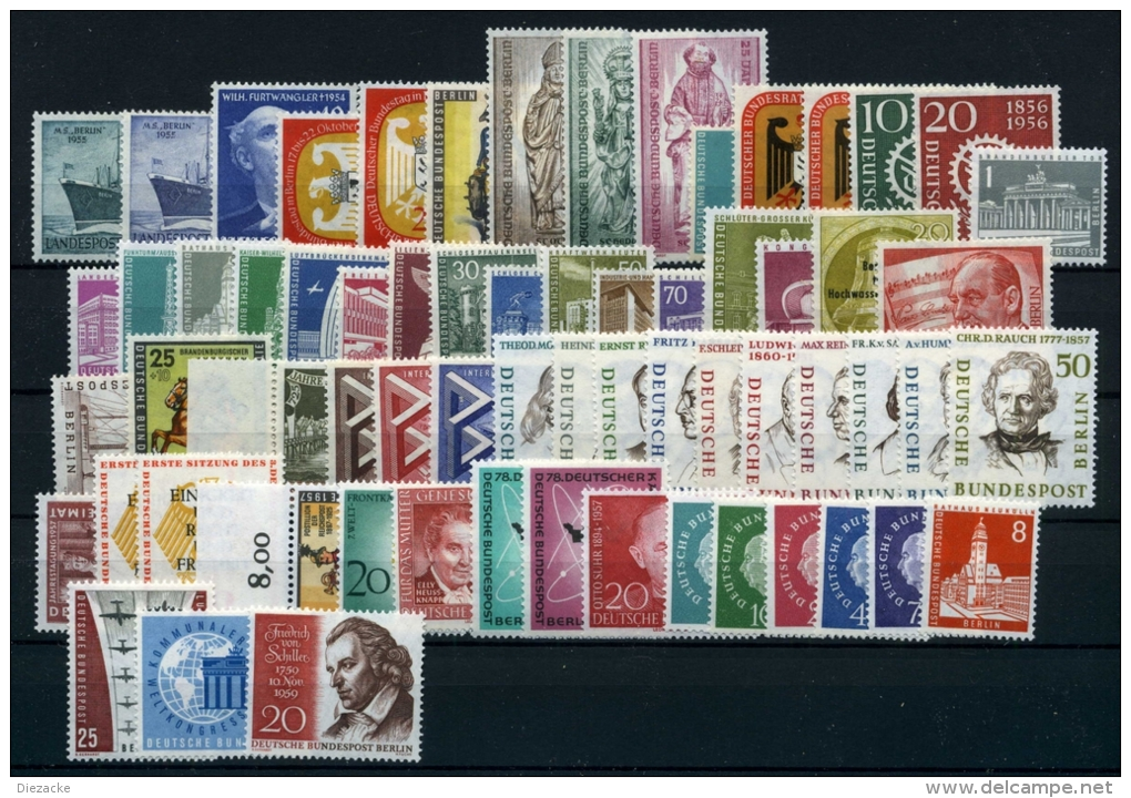 Berlin Jahrgang 1955-1959 Postfrisch/ MNH - [5] Berlín