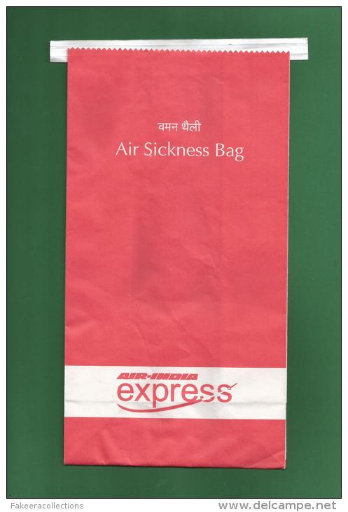Air India Express IX - Air Sickness Bag - Waste Bag / Airsickness Bag / Refuse Bag / Sac Pour Déchets - As Scan - Articles De Papeterie