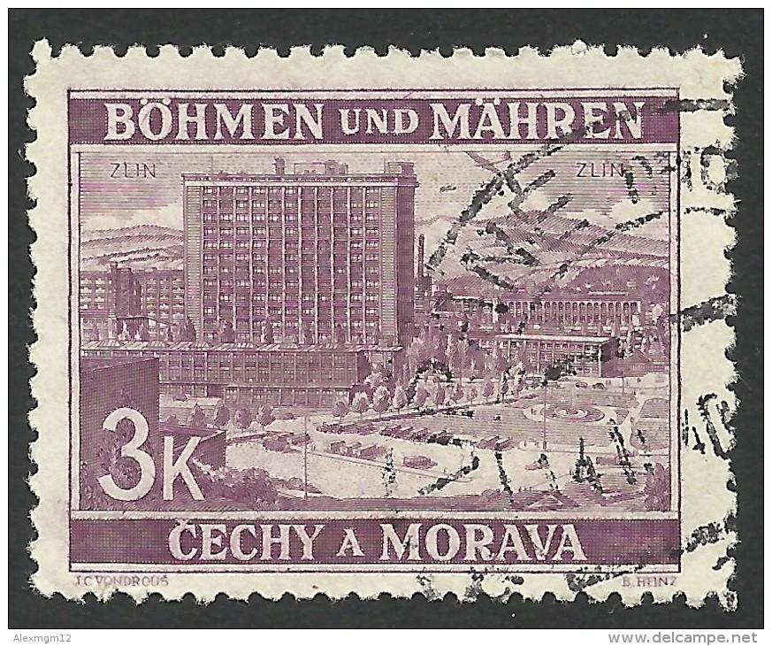 Bohemia & Moravia, 3 K. 1939, Sc # 35, Mi # 33, Used - Bohemia & Moravia