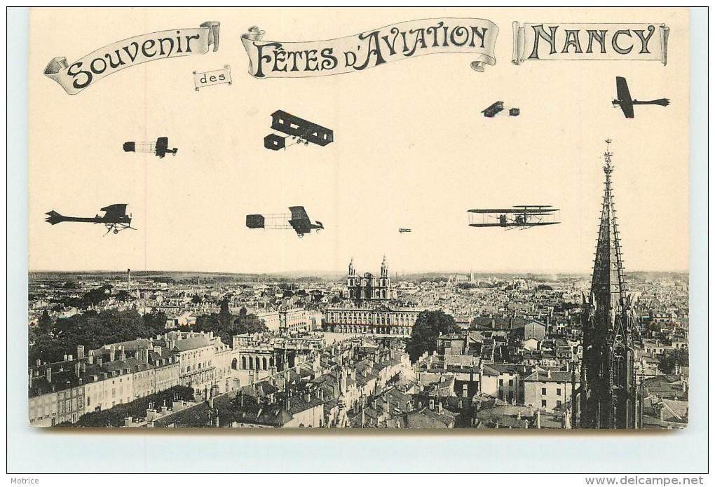 NANCY - Souvenir Des Fêtes D'aviation, Carte Illustrée. - Meetings