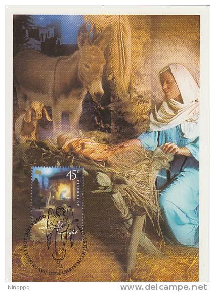 Australia-2000 Christmas,45c Mother And Child  Maximum Card - Maximum Cards