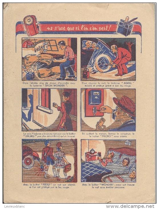 Protége Cahier/ Wonder/ Pile électrique/Damville/Eure/Efgé/Valenciennes/ Vers 1945      CAH50 - Electricité & Gaz