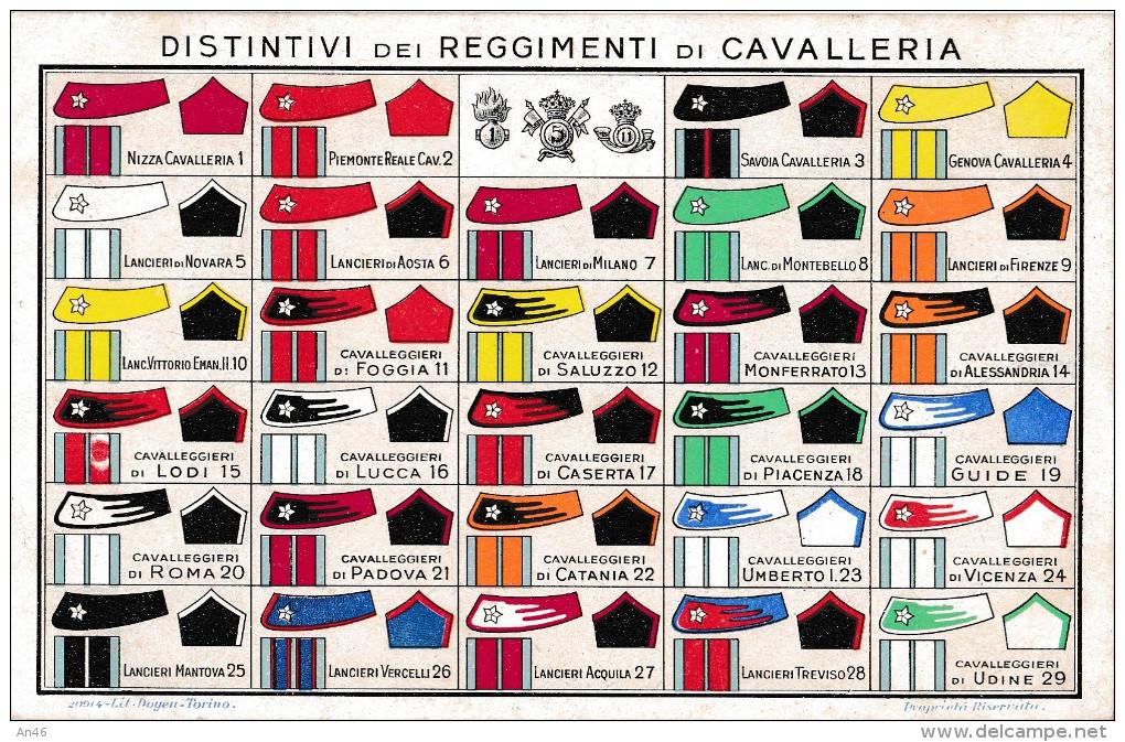 DISTINTIVI DEI REGGIMENTI DI CAVALLERIA    2 SCANN. AUTENTICA 100% - Regimente