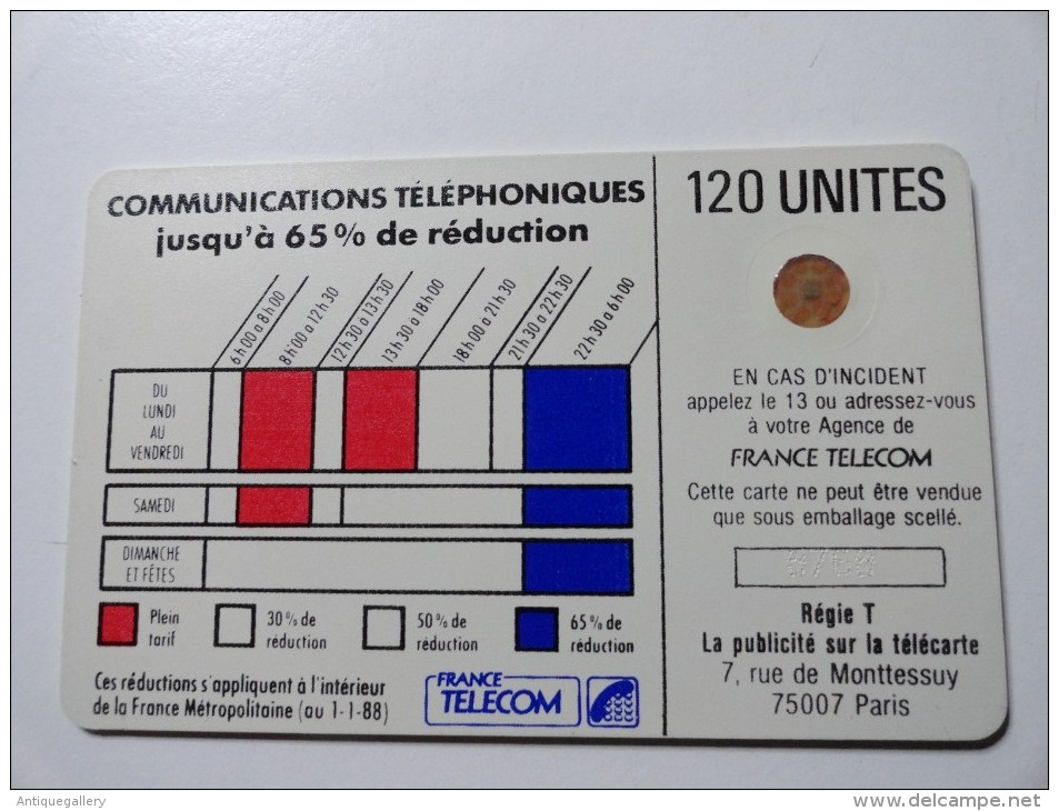 RARE : VARIÉTÉS : CORDONS BLANC TELECARTE 120 U NR 8768  USED CARD - Varietà