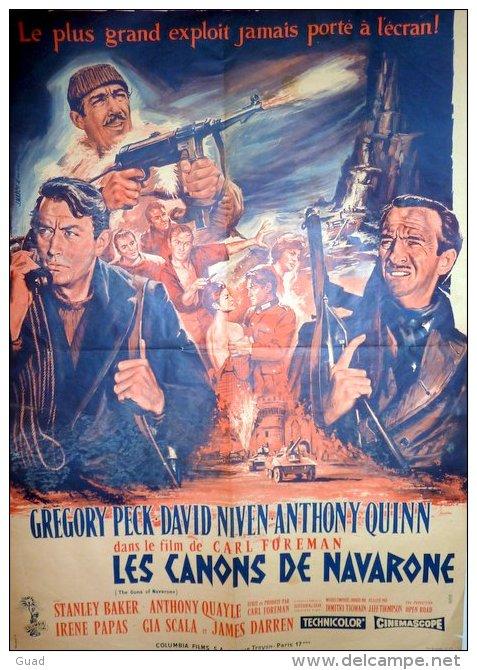 Posters - AFFICHE CINEMA LES CANONS DE NAVARONE 1961 GREGORY PECK DAVIS  NIVEN ANTHONY QUINN