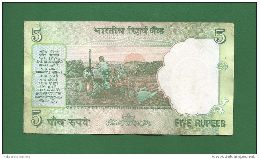India 1997 - 2003 - 5 Rupee / INR Banknote -  Bimal Jalan - Used But Good Condition - As Scan - India