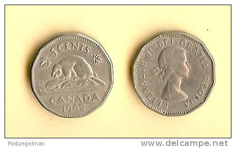 CANADA 1955-1962 Km50a 5 Cents QE II - Canada