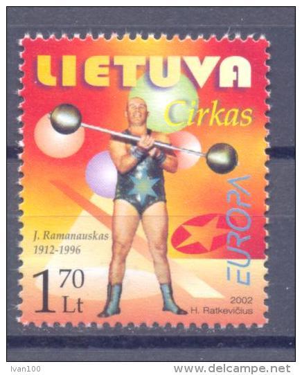 2002. Lithuania, Europa 2002, 1v, Mint/** - Lithuania