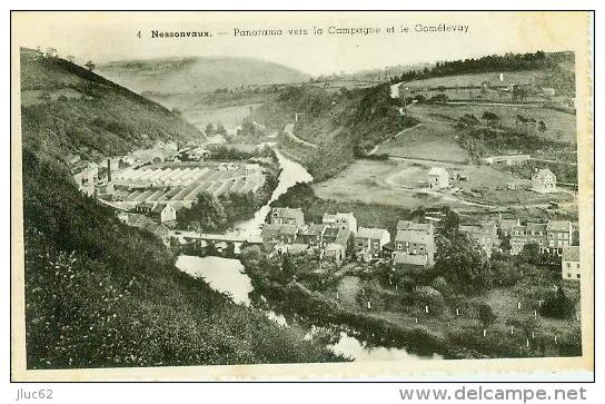 CP.  NESSONVAUX.  PANORAMA  VERS  LA  CAMPAGNE  ET  LE  GOMELEVAY - Trooz