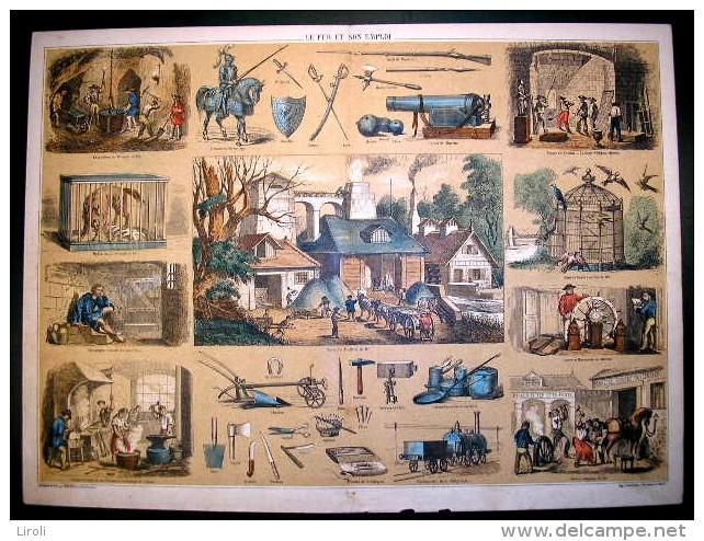 STRASBOURG, BERGER-LEVRAULT. LE FER ET SON EMPLOI. Dessiné Et Lith. Par BELIN Et BETHMONT - Old Paper