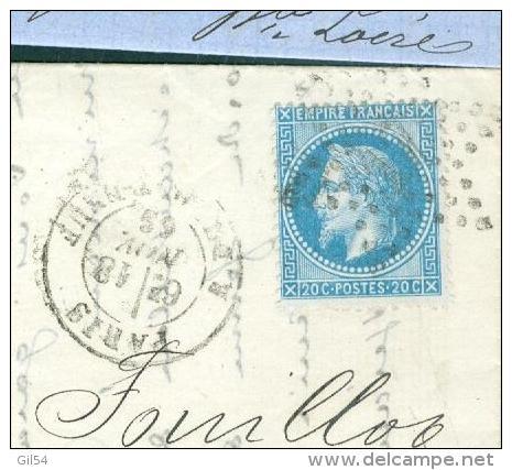 Yvt N°29 / Lac De Paris R. Du Pont Neuf , étoile N°17 En Nov 1869    - Aab6505 - 1849-1876: Classic Period