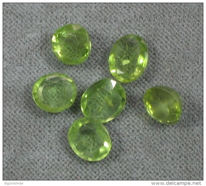 Peridot 6 Stück Geschliffen - Ca 7-8,5 Mm Dm - Bijoux & Horlogerie